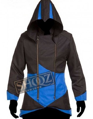 Assassins Creed Black And Blue Hoodie