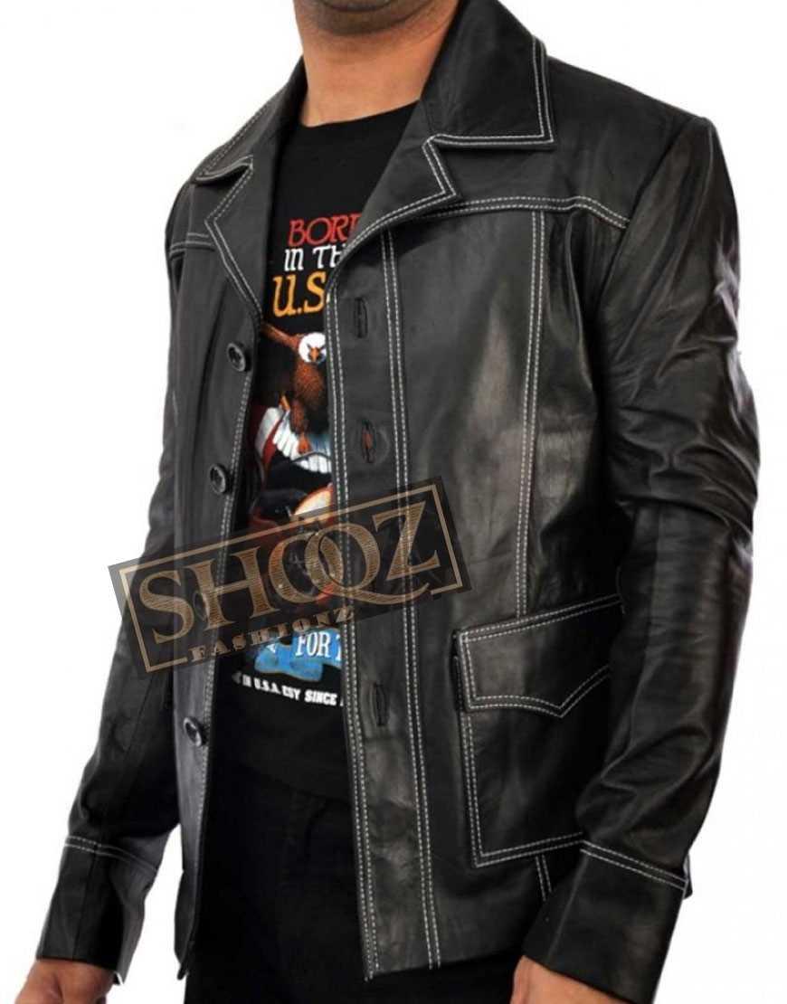 Fight Club Brad Pitt Leather Jacket