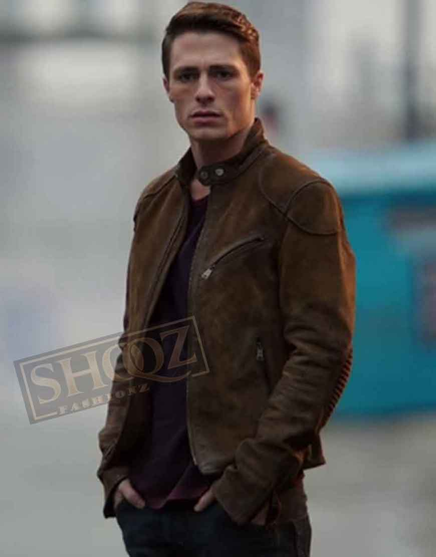 Arrow Season 3 Colton Haynes Suede Jacket