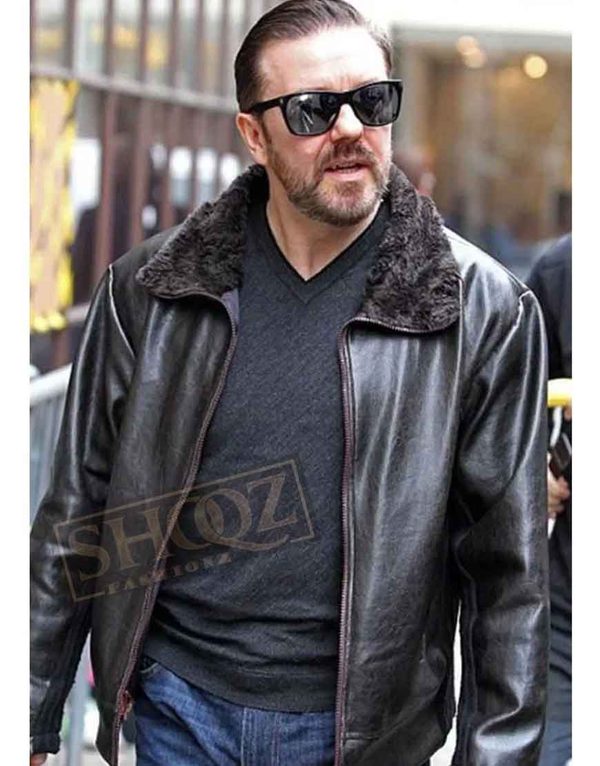 After Life Ricky Gervais (Tony Johnson) Leather Jacket
