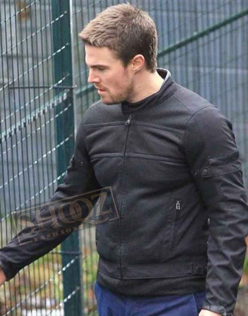 Arrow Stephen Amell Black Jacket