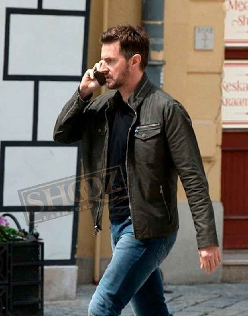 Berlin Station Richard Armitage Leather Jacket