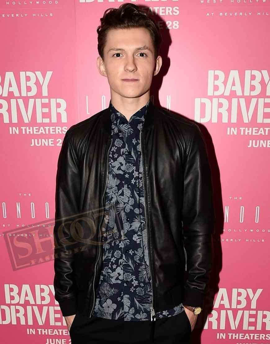 Baby Driver Tom Holland Premier Leather Jacket