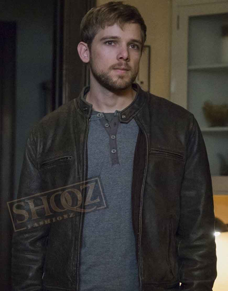 Bates Motel Max Thieriot Leather Jacket