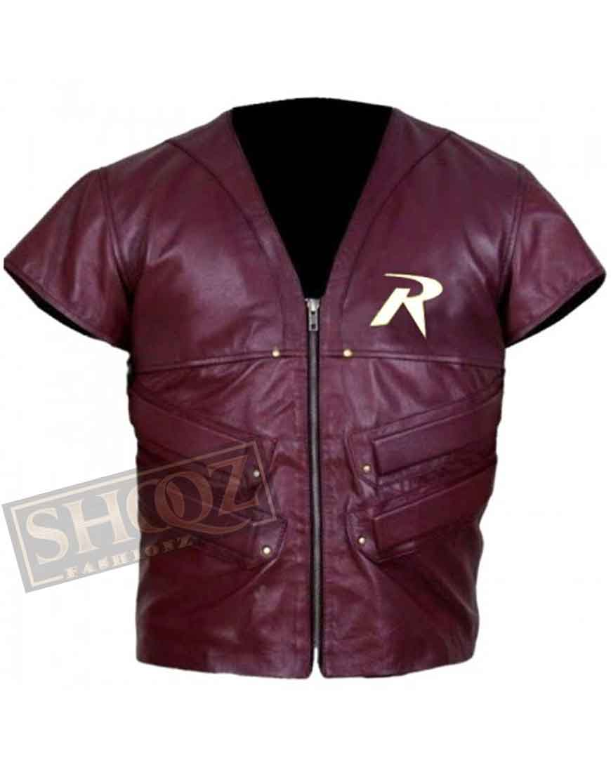 Batman Arkham City Robin Leather Vest