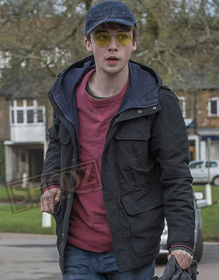 Black Mirror Alex Lawther Cotton Jacket