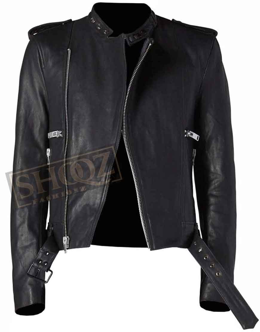 Classic Cafe Racer Leather Jacket