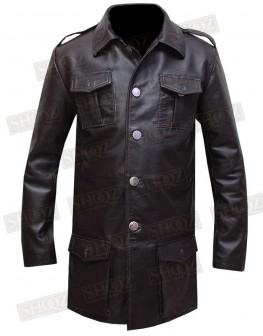 German Cafe Racer Leather Blazer Coat