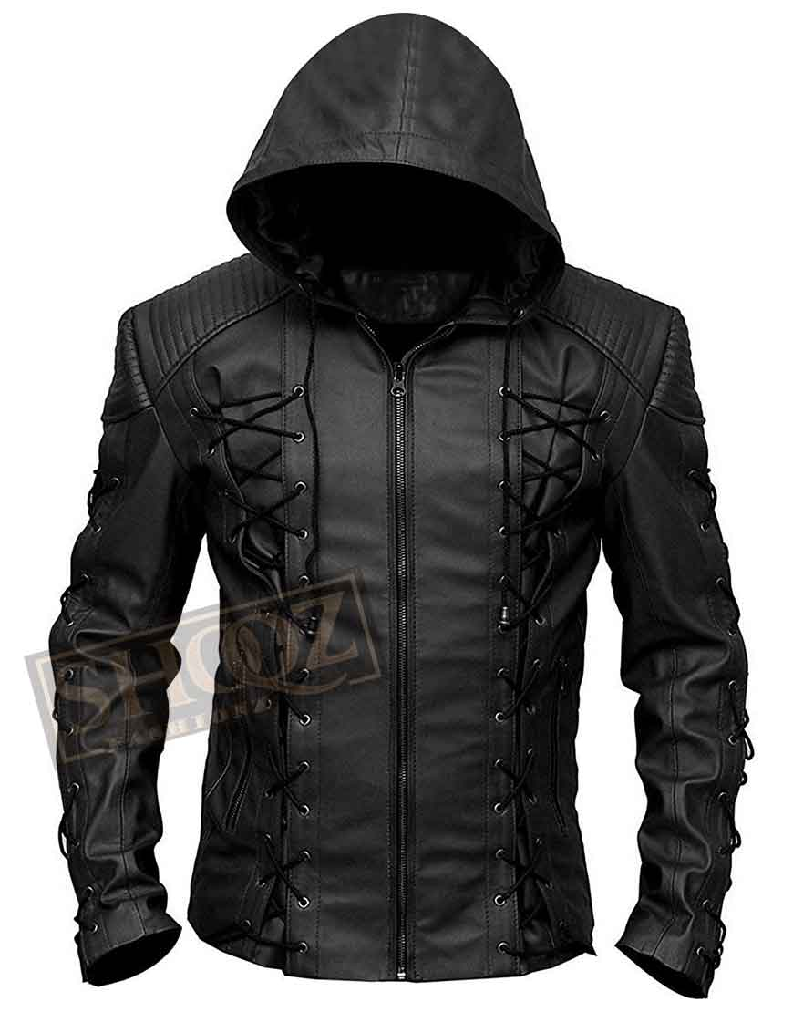 Arrow Colton Haynes Black Hoodie Jacket