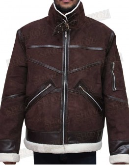 Power 50 Cent Shearling Brown Jacket