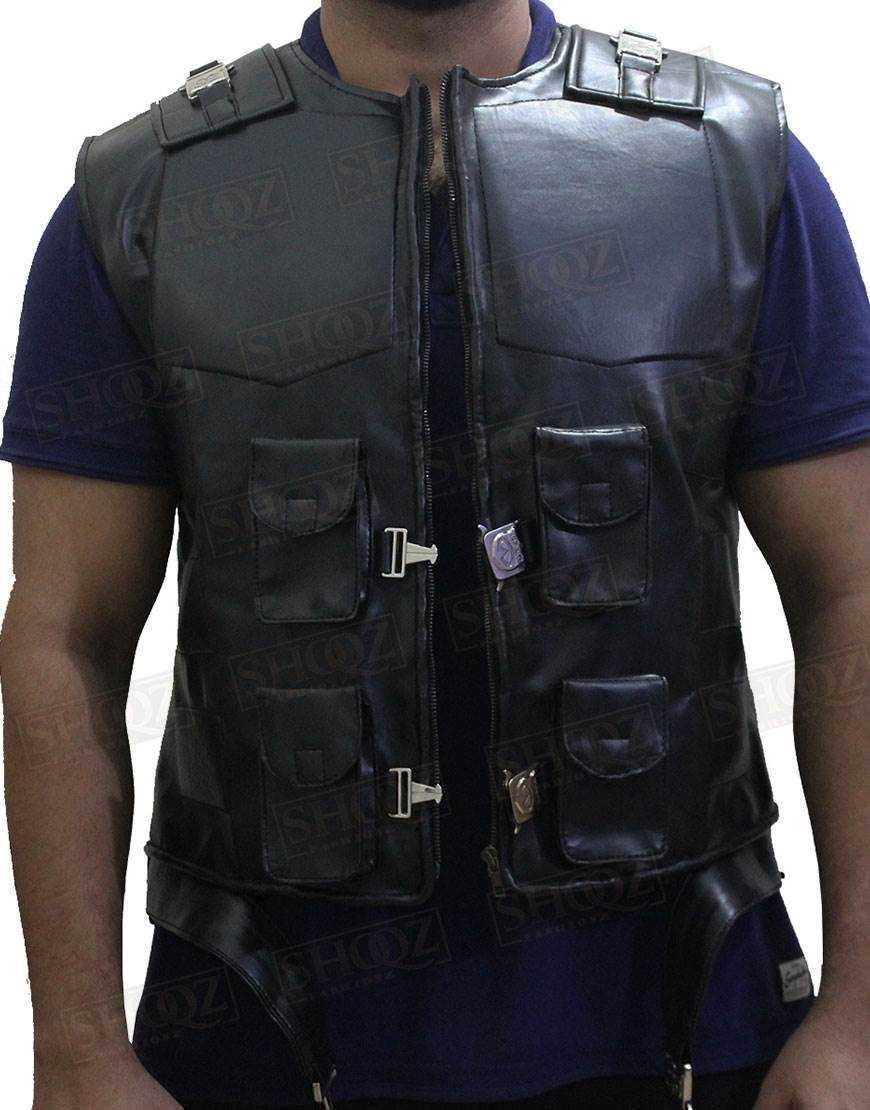 Blade Wesley Snipes Black Leather Vest