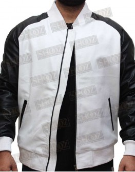 Power 50 Cent Black And White Leather Jacket