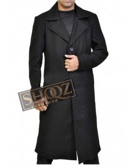 Justified Timothy Olyphant Black Trench Coat