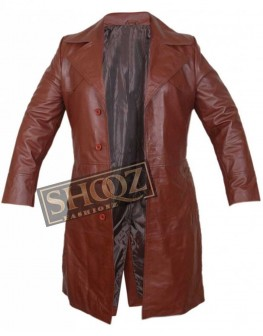 Suicide Squad Will Smith Leather Trench Coat