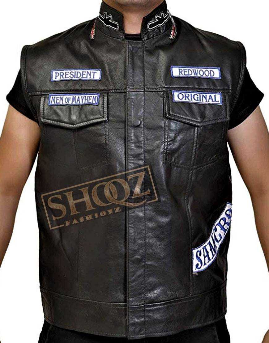 Sons Of Anarchy Jax Teller Black Cowhide Vest