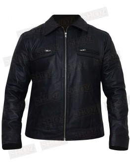 Cafe Racer Black Leather Jacket