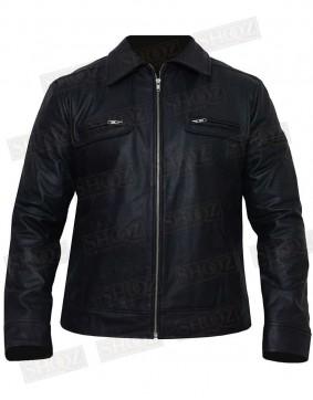 Cafe Racer Black Leather Jacket