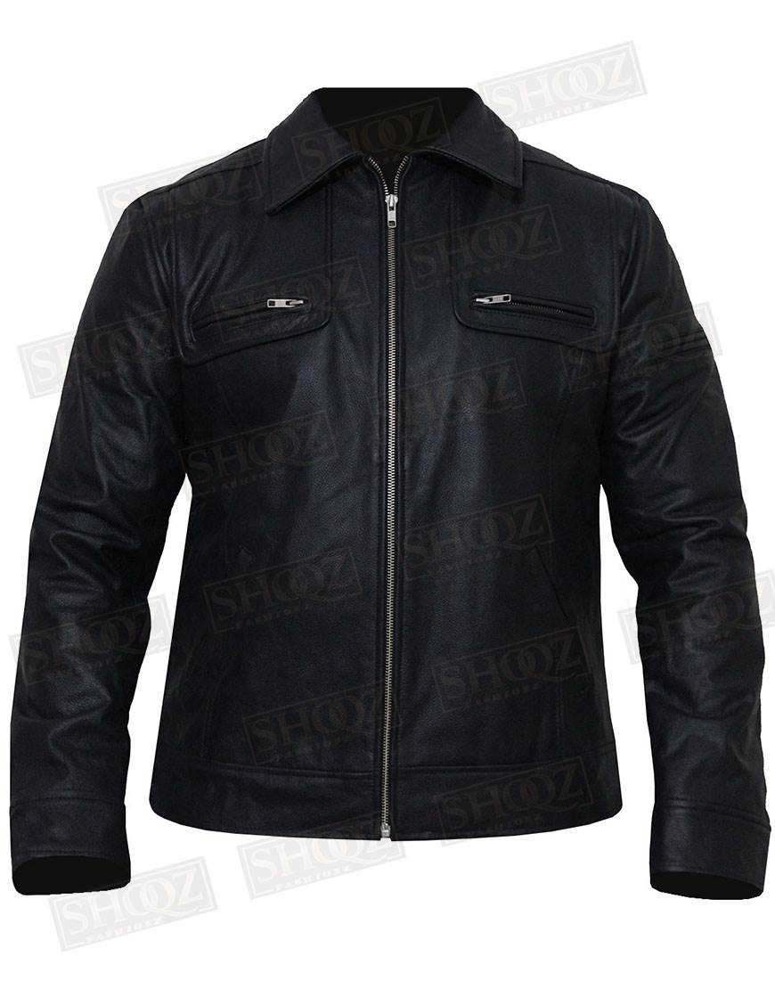 Vintage Cafe Racer Black Leather Jacket