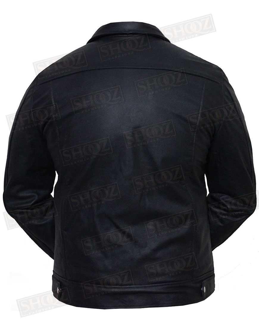 Vintage Cafe Racer Black Leather Jacket