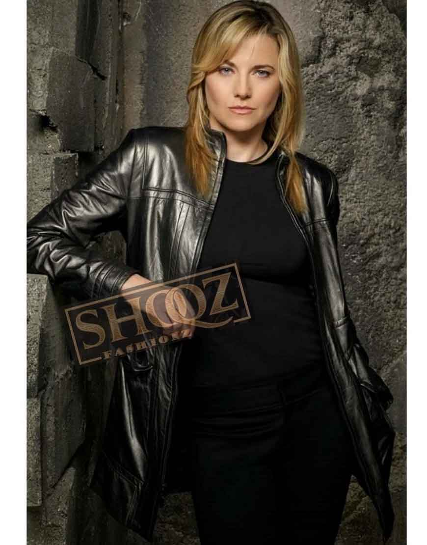 Battlestar Galactica Lucy Lawless Leather Jacket