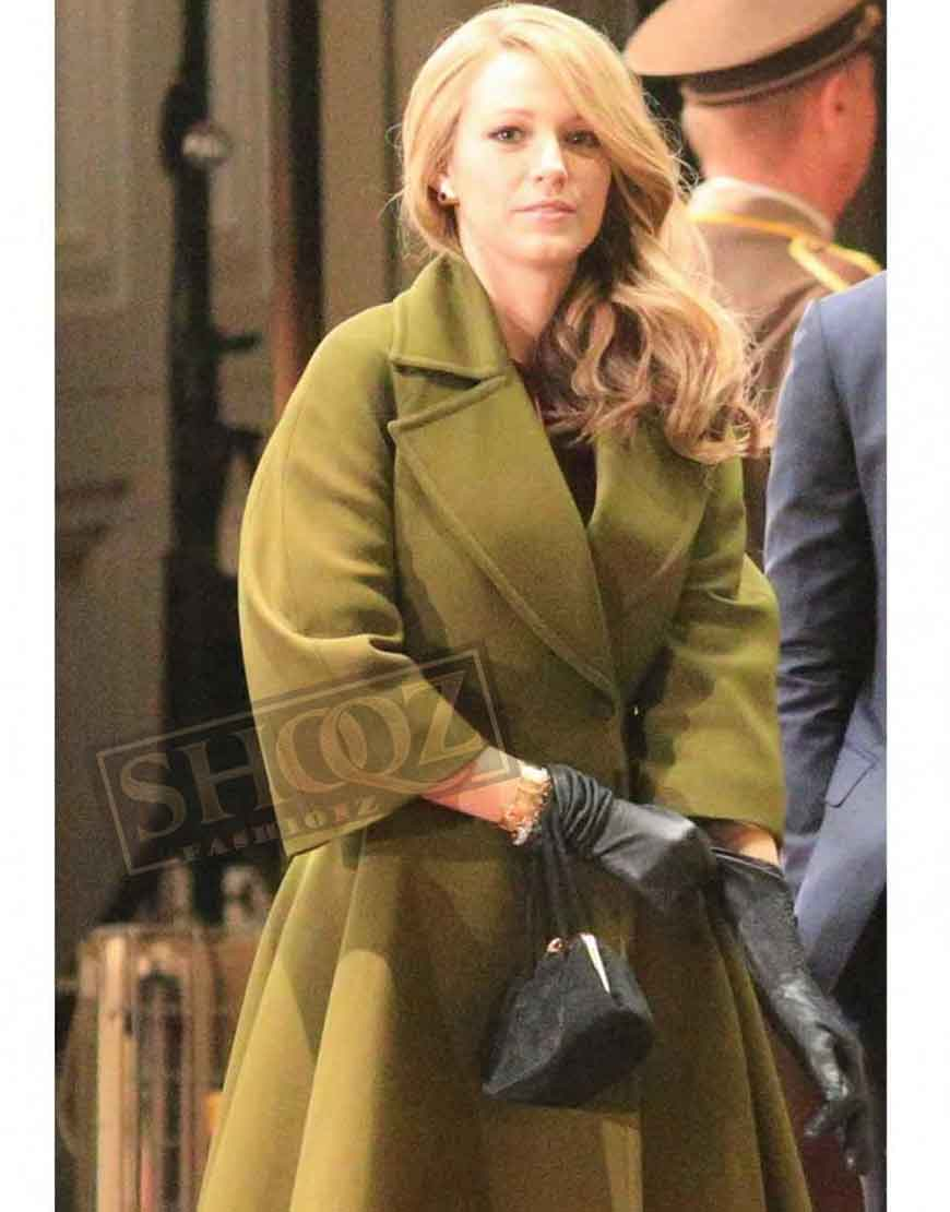 Age Of Adaline Blake Lively Green Trench Coat