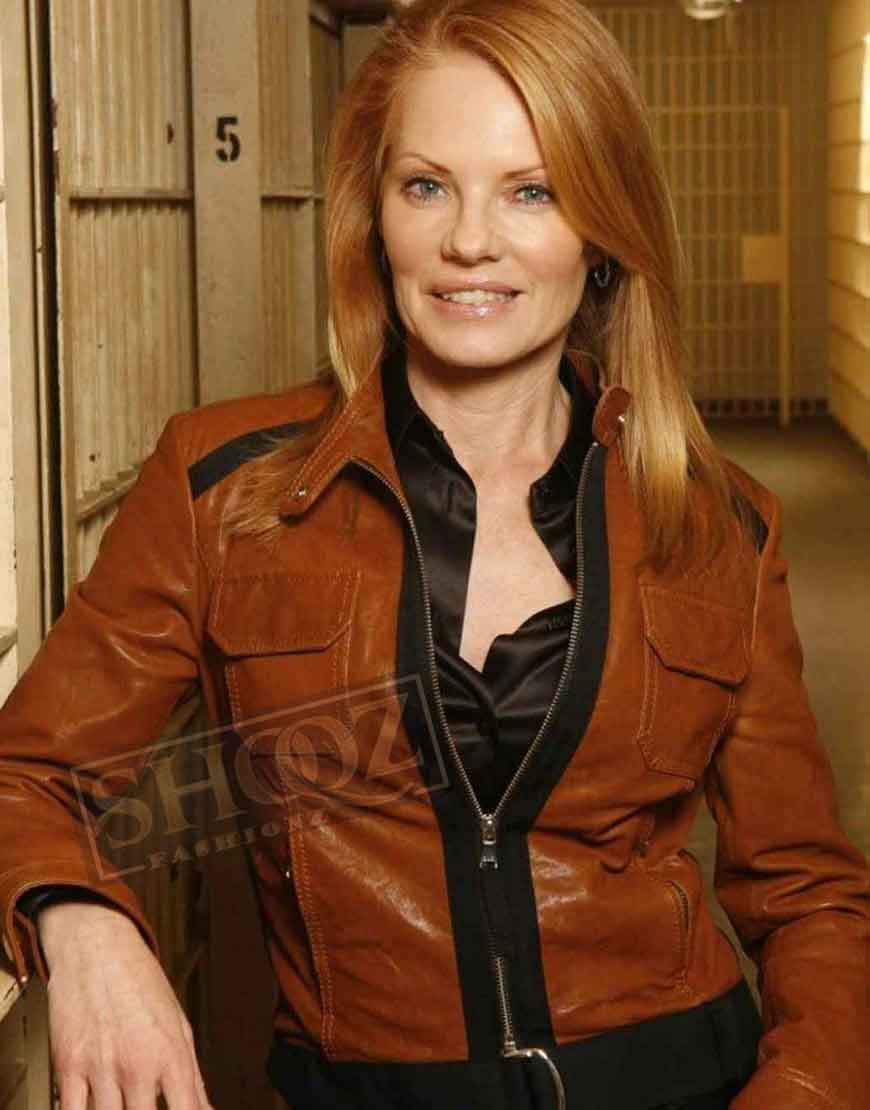 Csi Catherine Willows Brown Leather Jacket