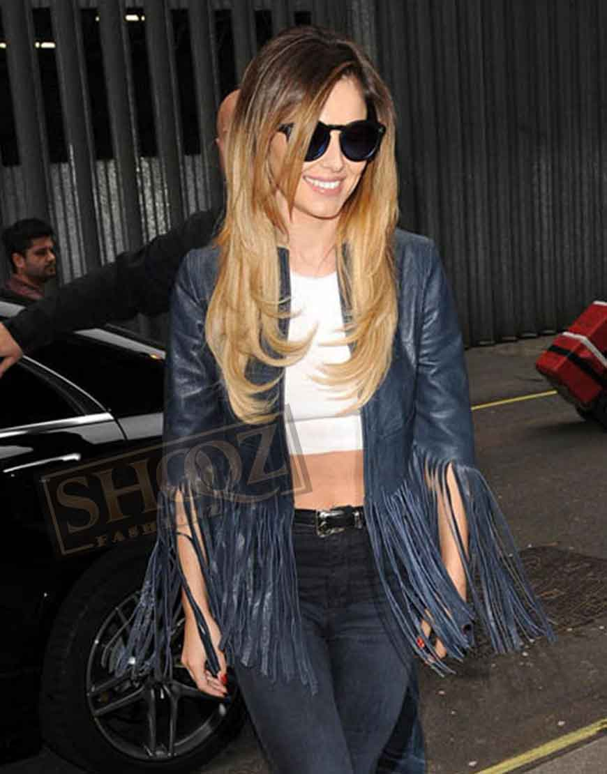 Cheryl Cole Crazy Stupid Love Leather Jacket