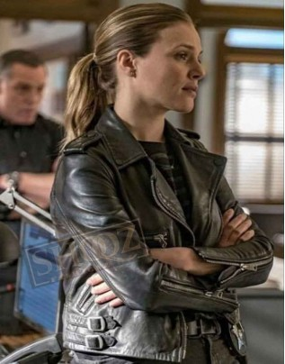 Chicago PD Tracy Spiridakos Leather Jacket