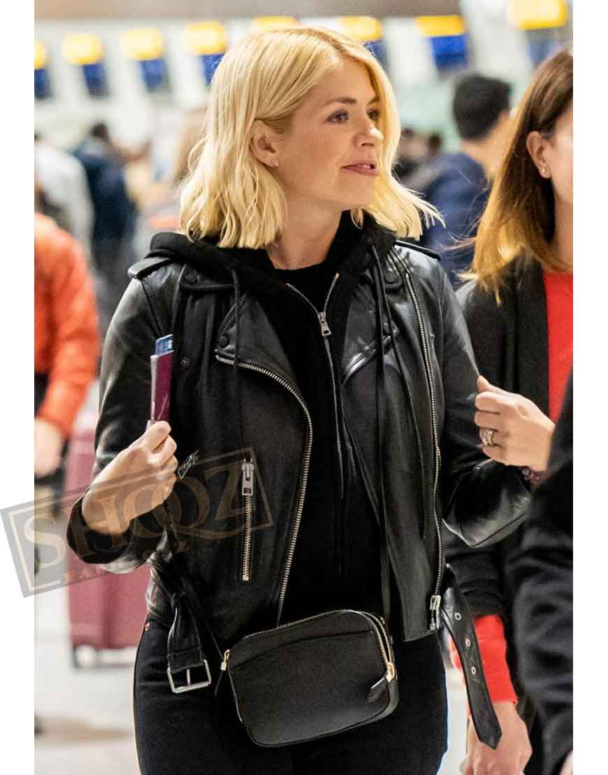 Holly Willoughby Black Leather Jacket