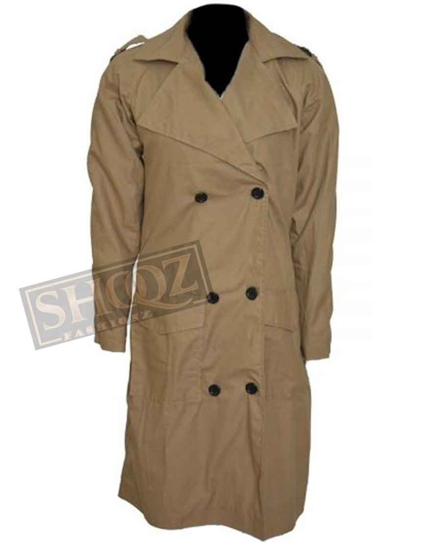 Jennifer Lopez Brown Trench Coat