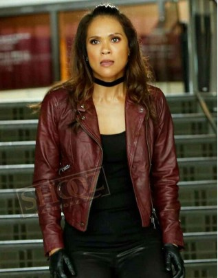 Lucifer Lesley-Ann Brandt Leather Jacket