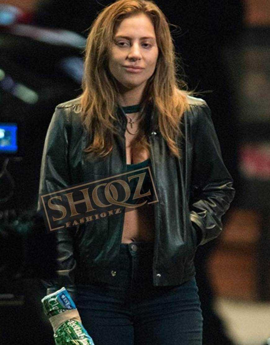 A Star Is Born Lady Gaga Black Leather Jacket