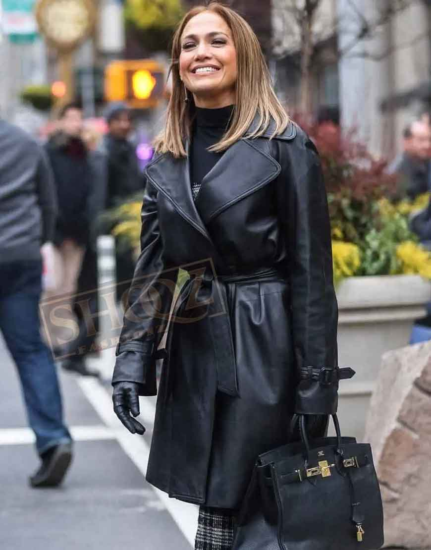 Second Act Jennifer Lopez Leather Coat