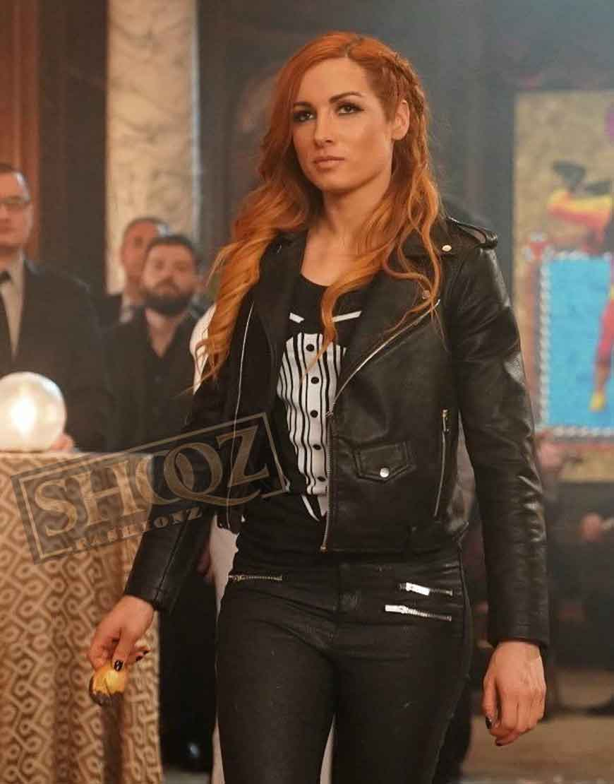 WWE Raw Becky Lynch Black Leather Jacket