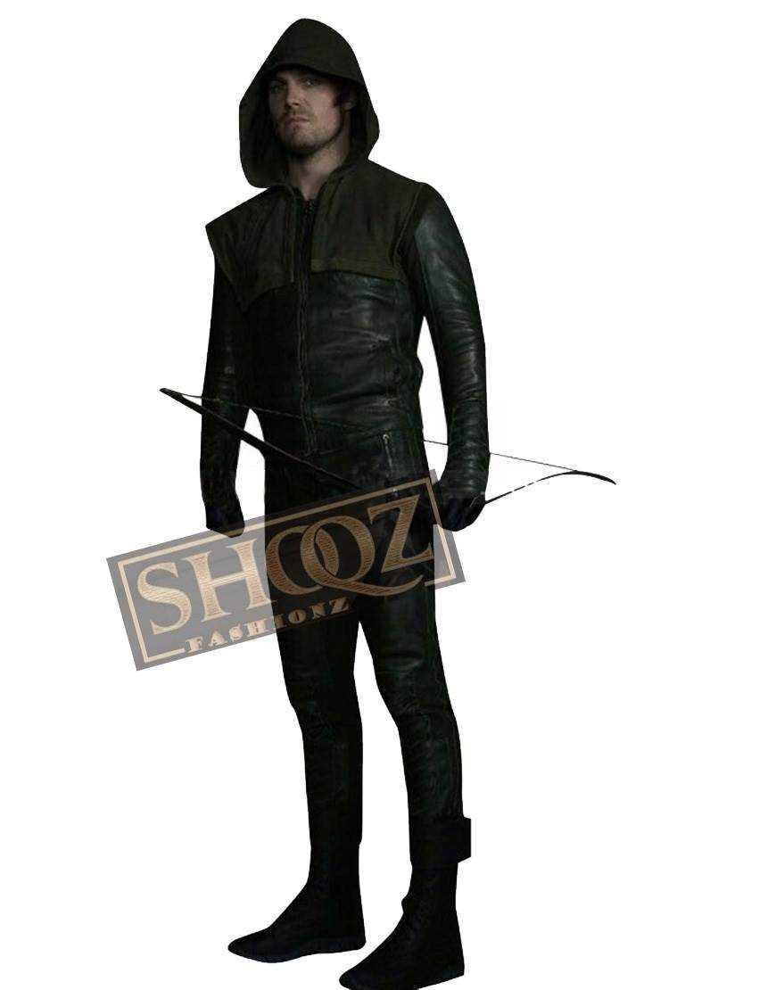 Stephen Amell Arrow Leather Costume Pant