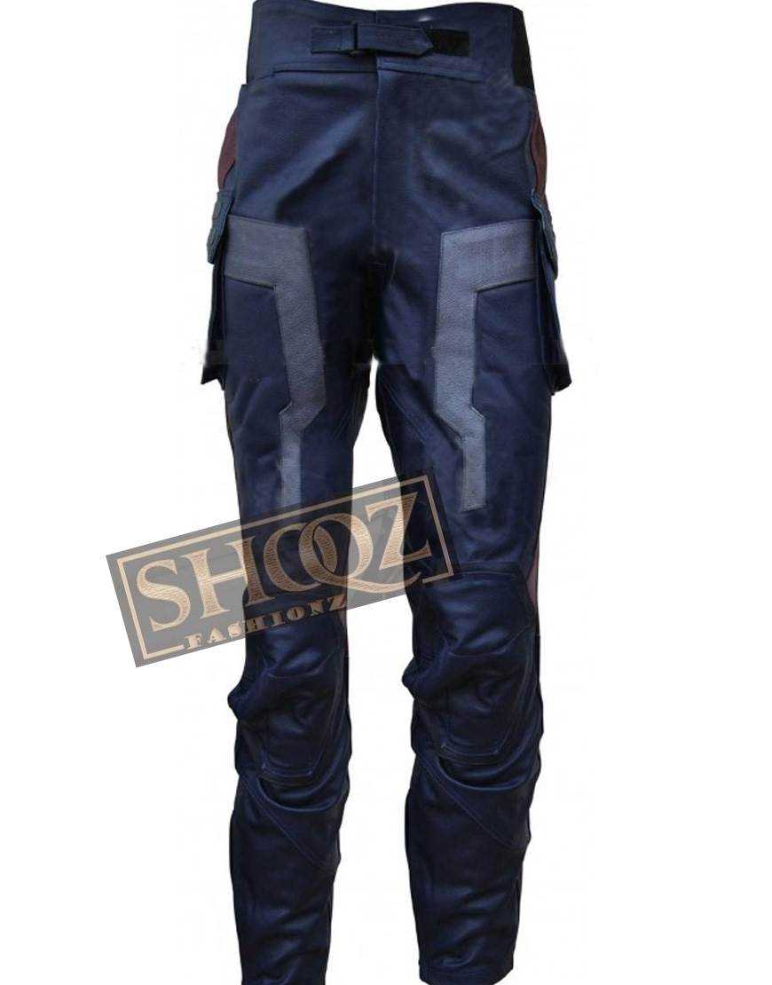 Chris Evans Captain America Costume Leather Pant