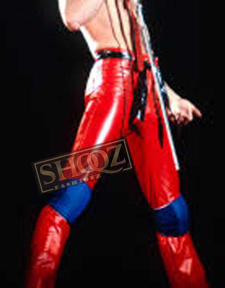 Singer Freddie Mercury Red Concert Leather Pant