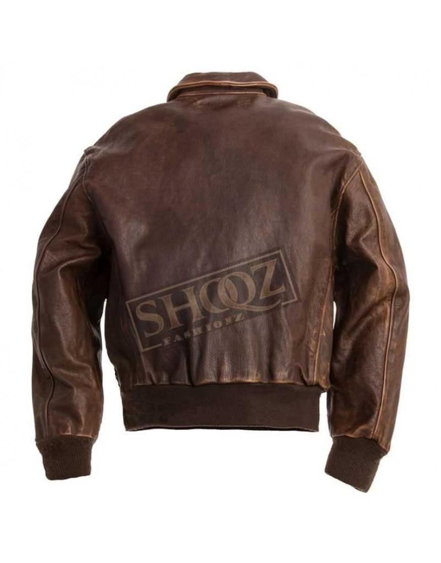 G1 Navy Brown distressed jacket