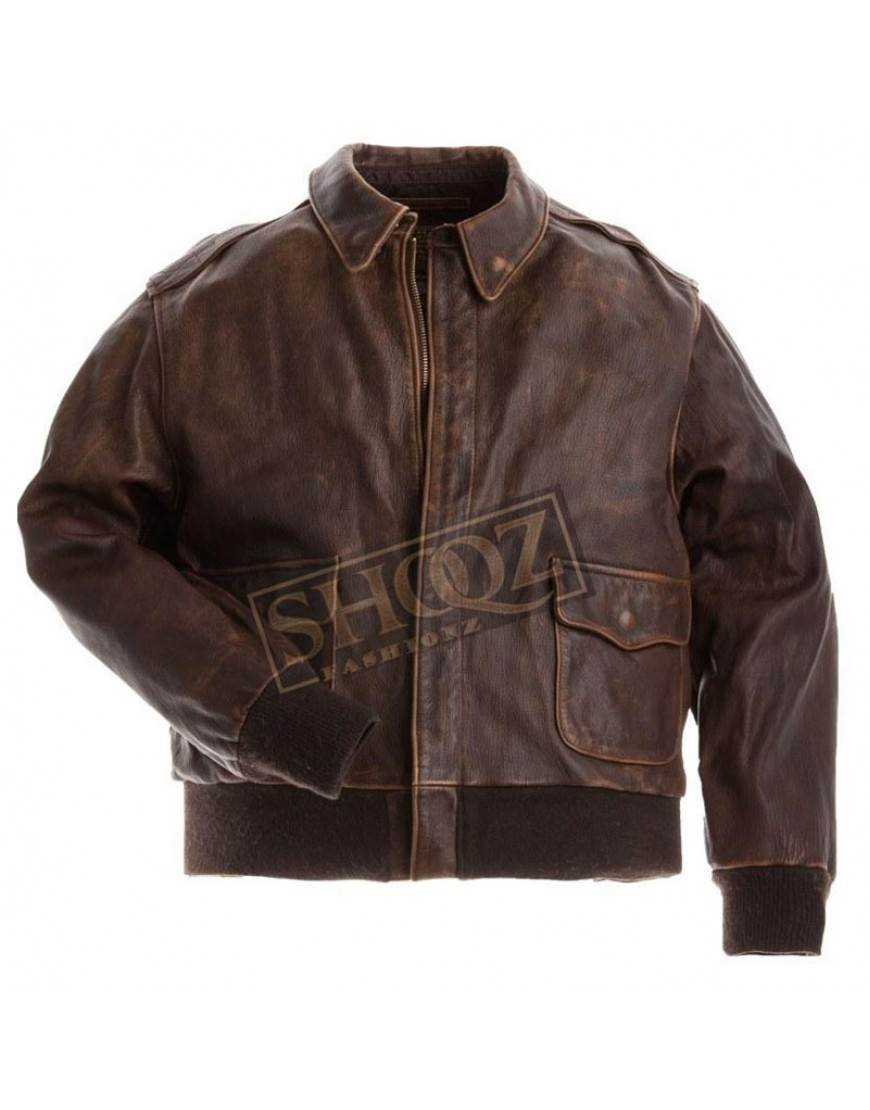 Aviator A-2 Flight Cowhide Leather Jacket
