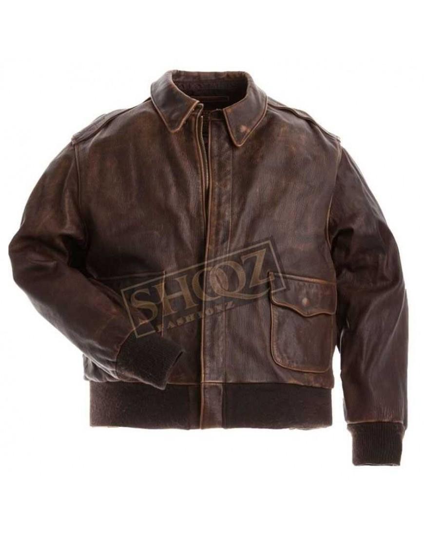 Aviator A-2 Flight Cowhide Leather Jacket