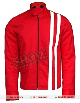 Elvis Presley Speedway Red Cotton Slim Fit Jacket