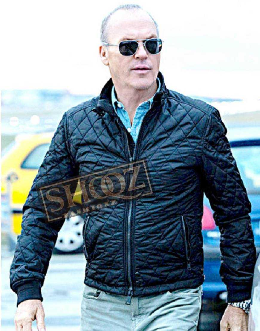American Assassin Michael Keaton Satin Jacket