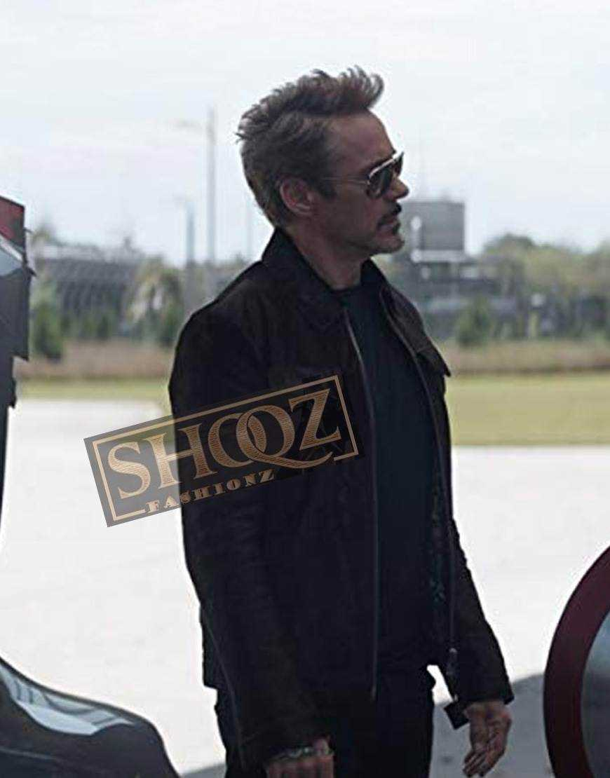 Avengers Endgame Robert Downey Jr Leather Jacket