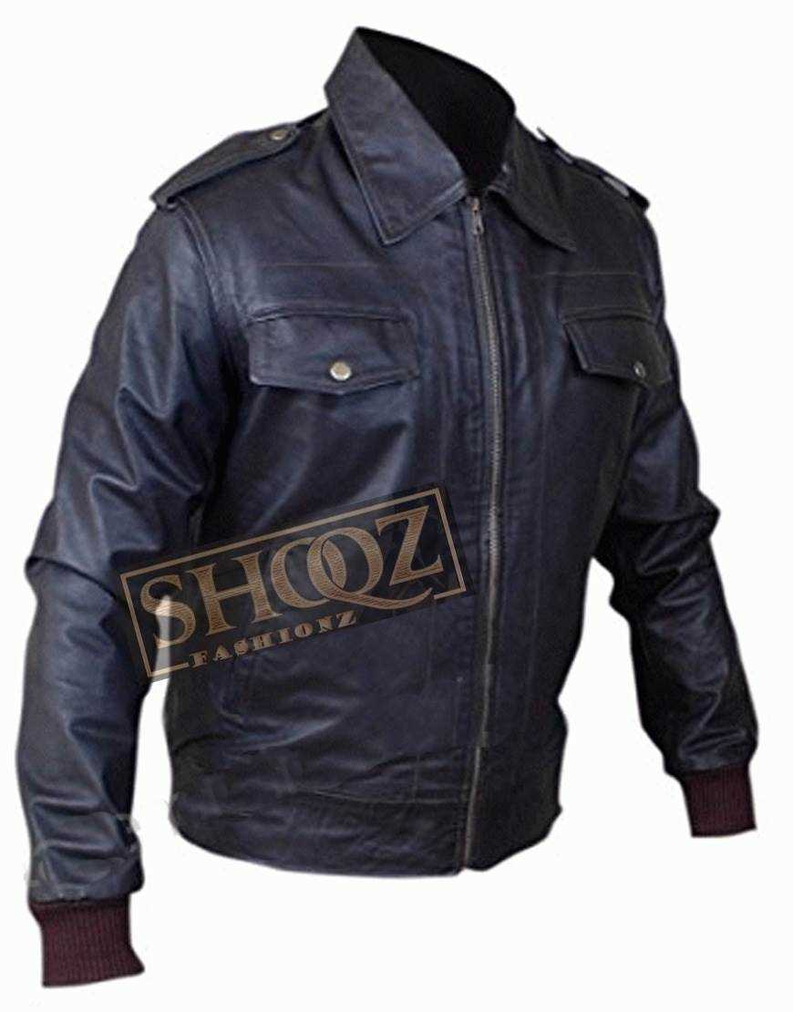 Avengers Steve Rogers Chris Evans Leather Jacket