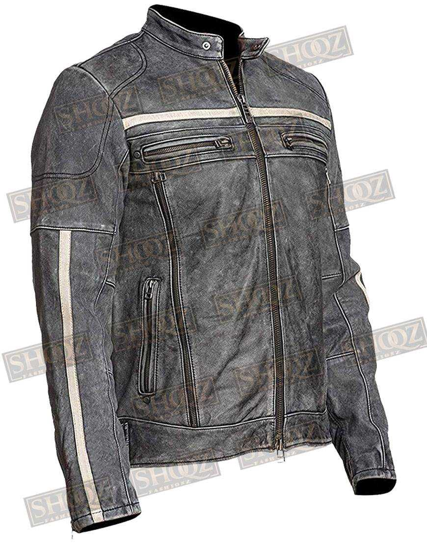 Affliction Cafe Racer Vintage Distressed Leather Jacket