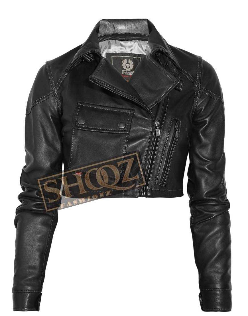 Blouson Lady Short Body Leather Jacket