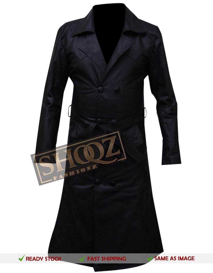 Buffy the Vampire Slayer Spike Trench Leather Costume Coat