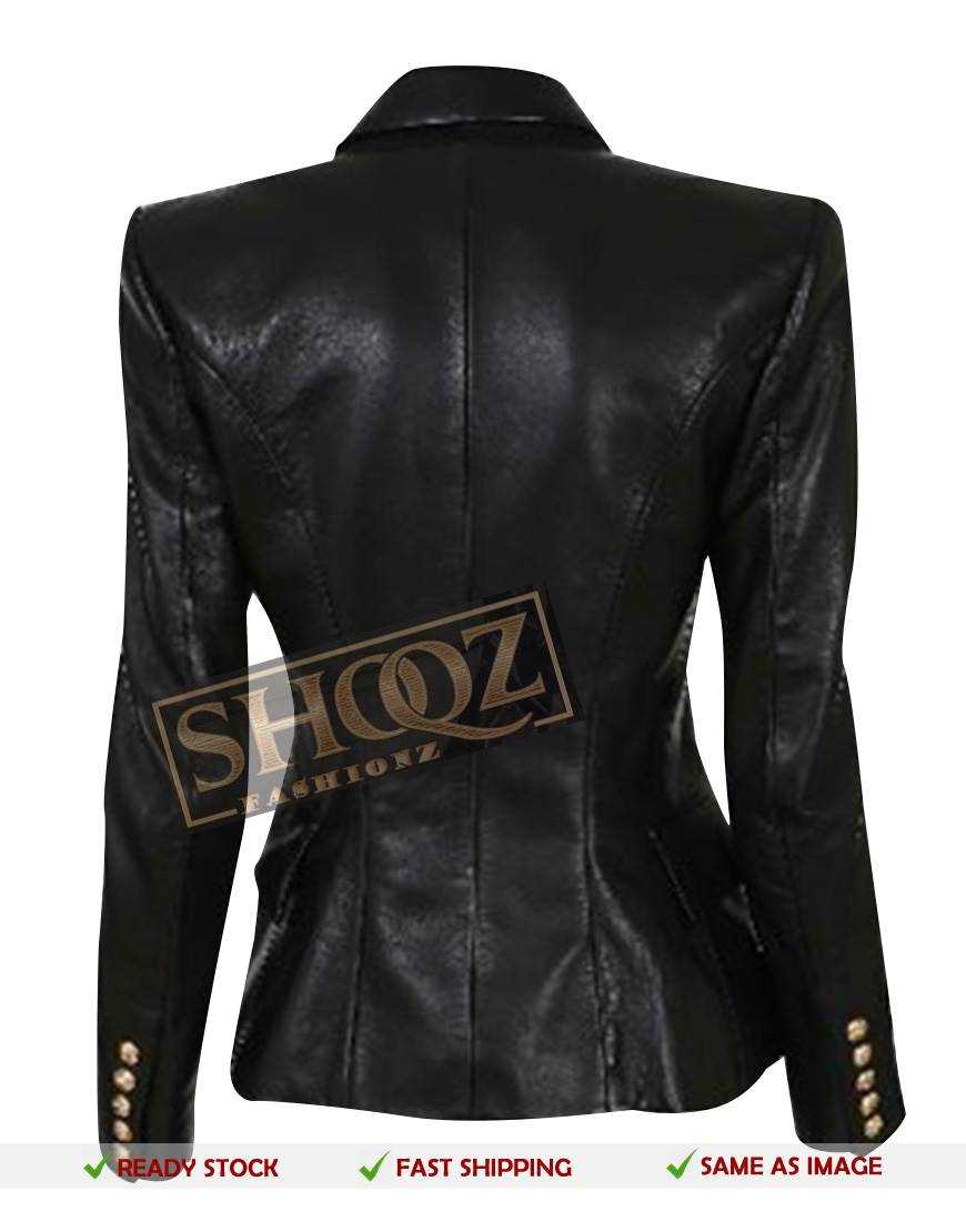Kim Kardashian Double Breasted Black Blazer Jacket