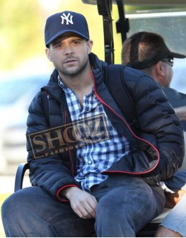 Power Jerry Ferrara Blue Satin Jacket