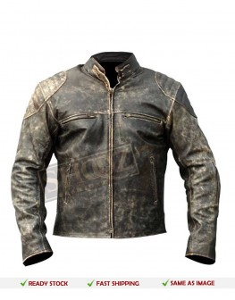 Antique Vintage Distressed Retro Leather Jacket